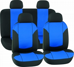 CAR SEAT COVERS BLUE & BLACK Polyester Mesh HY-S1012