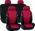 CAR SEAT COVERS RED & BLACK Printing