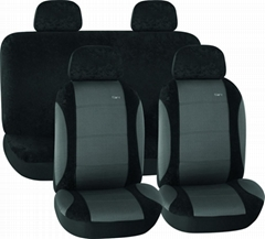 CAR SEAT COVERS GREY & BLACK Knitted Fabric HY-B2002