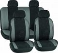 CAR SEAT COVERS GREY & BLACK Velvet