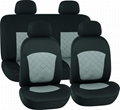 CAR SEAT COVERS GREY & BLACK Polyester