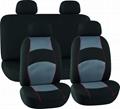 CAR SEAT COVERS GREY & BLACK Jacquard