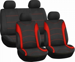 CAR SEAT COVERS RED & BLACK Polyester