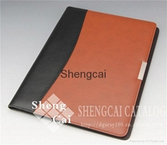 High quality A3 pu leather presentation fashion portfolio folder