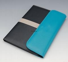 2015 New style A3 Leather Portfolio file folder with calculator