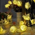 廠家直銷仿真玫瑰花LED電池聖
