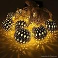 廠家直銷鐵藝圓球LED電池聖誕