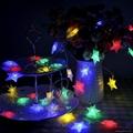 廠家直銷五角星星LED電池聖誕