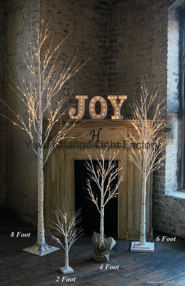 led christmas tree snow white birch tree lights on a dying tree 2