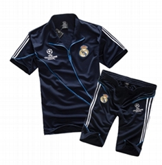 he 2015 summer real Madrid jersey champions league football training suit