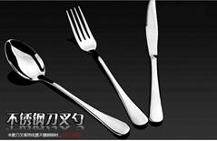 高档西餐具不锈钢牛排刀叉勺子欧式主餐刀外贸不锈钢刀叉勺