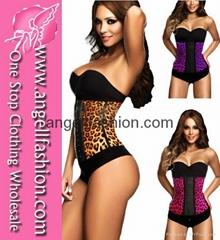Leopard Print Hot Sexy Cheap Waist Training Corset Wholesale