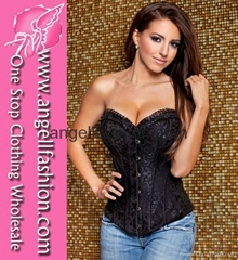 Floral Pattern Strapless Wholesale Sexy Corset Cheap