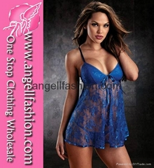 Sleeveless Lace Sexy Babydoll Lingerie