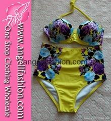 Hot Fashion Wholesale Retro High Waist Bikini