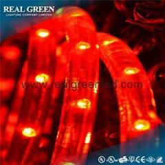 150Ft 220V 2-Wire Standard Red LED Rope Light