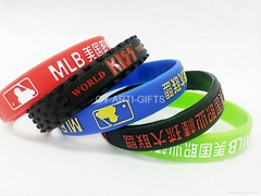 Wholesale Silicone wristbands Twist Silicone Bracelet