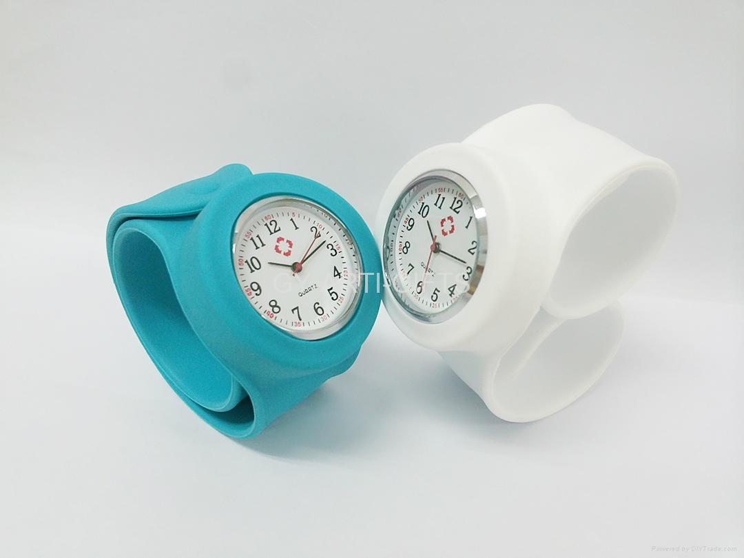 Promotion fashion slap snap papa digital Quartz silicon watch 5