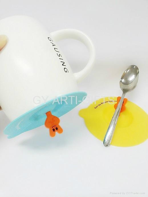 硅胶水杯盖 4