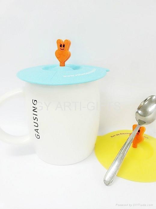 硅胶水杯盖 2