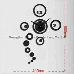 Different design wall clock fashion art ring shape wall clock for lobby/office
