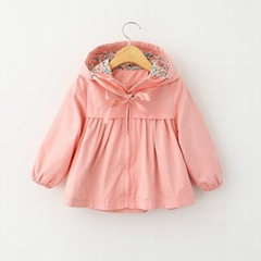 Fancy kids outwear 2015 top quality autumn Korean girl coat