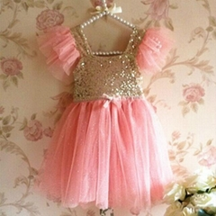 Girl Sequin Dress Wholesale Fashion Boutique Sequin Baby Girls Dress