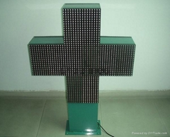 RF wireless control P16 LED pharmacy cross display led cross sign