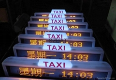 scrolling message taxi top led display
