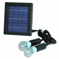 New Solar Powered Supply System F8 LED bulbs outdoor lighting solar garden lawn