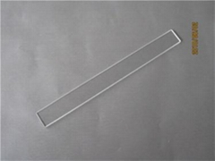 Ultra thin clear square quartz glass plates 2.4*1.2*0.1mm