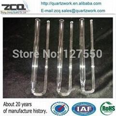 Quartz chemistry laboratory apparatus U tube with conical connection