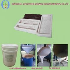 white 100:2 rtv-2 liquid mold making silicone rubber for artificial stone mold