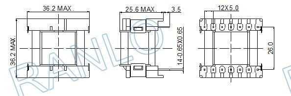 ETD29 高頻變壓器電源變壓器打樣批量生產 3