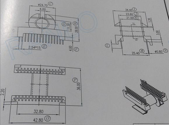 RANLO ETD34 16+16 高頻開關電源變壓器 2