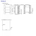 RANLO ETD59 12+12 臥式大功率高頻變壓器
