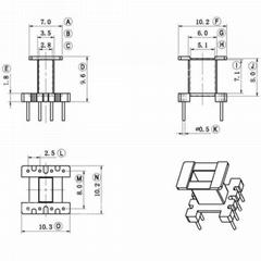 EE10 4+4 立式高頻變壓器