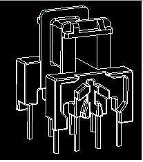EE13 臥式 4+4 脈衝變壓器高頻電源變壓器
