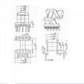 EEH1313 2+5  horizontal HF smps transformer