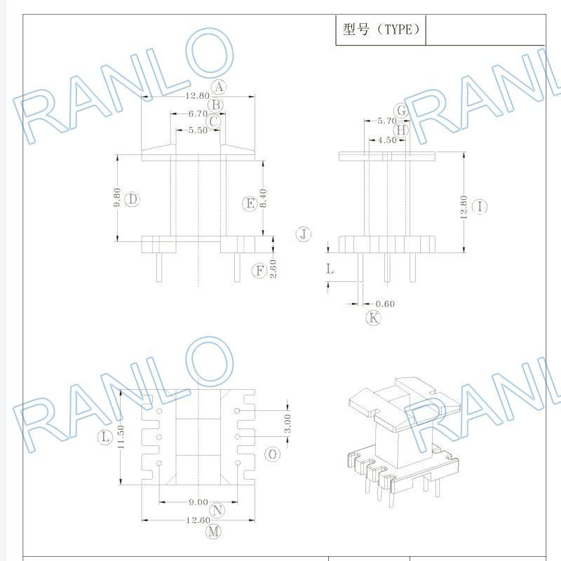 RANLO EE16 立式 3+3 高頻變壓器 4