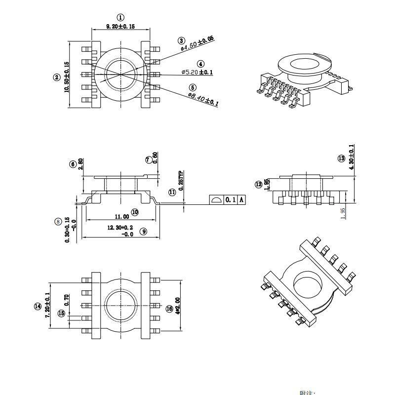 ER11.5 小功率隔離高頻變壓器 3