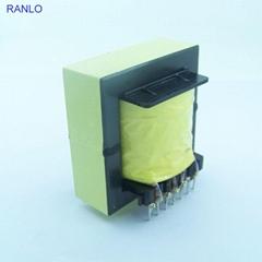 RANLO EE55 高频开关电源变压器打样定制 立式 7+7