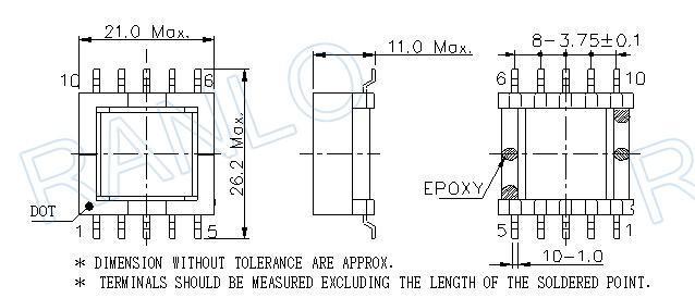 EFD20  5+5 脈衝變壓器開關電源變壓器高頻變壓器 3