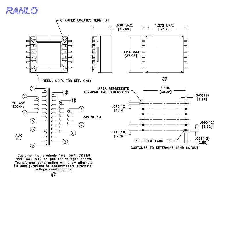 EFD25 6+6 脈衝變壓器開關電源變壓器高頻變壓器 4