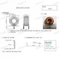 15A  30uH T94-2 鐵粉心鐵氧體磁環線圈