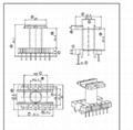 ETD34 立式 7+7 開關電源變壓器