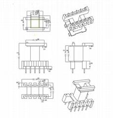 EF2017 5+5 立式開關電源高駢變壓器打樣 定製