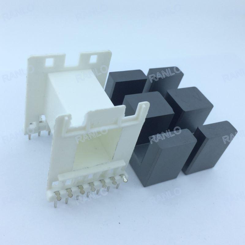 EE55 1500W horizontal transformer bobbin PC40 ferrite core