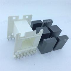 EE55 臥式 7+7變壓器骨架PC40磁芯