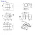 ETD34 horizontal LLCR transformer Bobbin 6+6pin  high quality TDG Soft magnetic